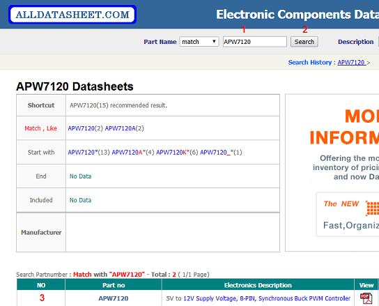 Cách tra ic trên datasheet