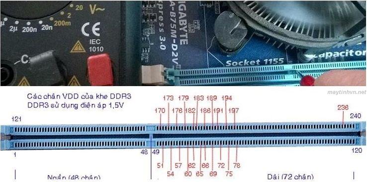 Cách đo điện áp DDR3