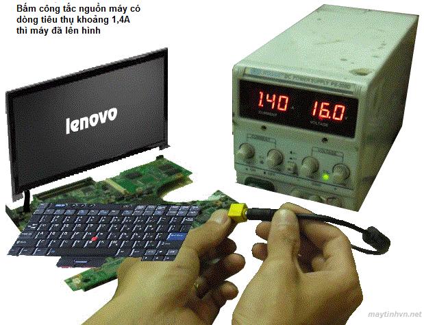 cach sua laptop bang may cap nguon