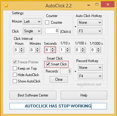 Hướng dẫn sử dụng phần mềm tự nhấp chuột