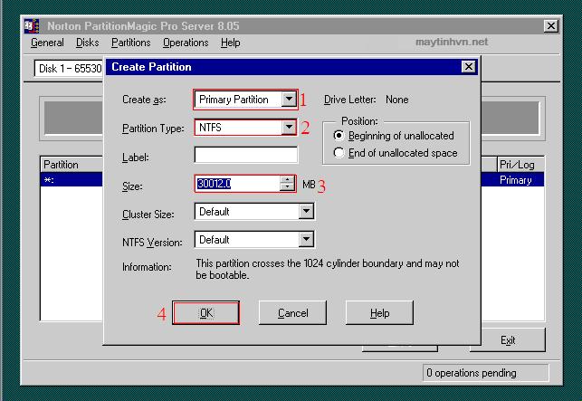 chon primary, NTFS