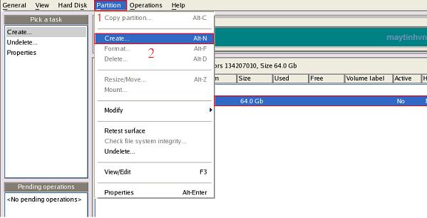 phân vùng hdd bằng paragon partition manager server