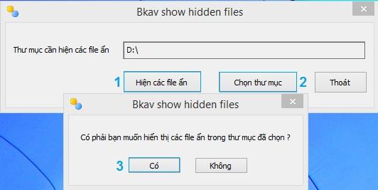 Phần mềm show file ẩn