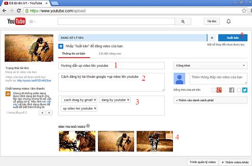 Cách đăng ký tài khoản google và up video lên youtube