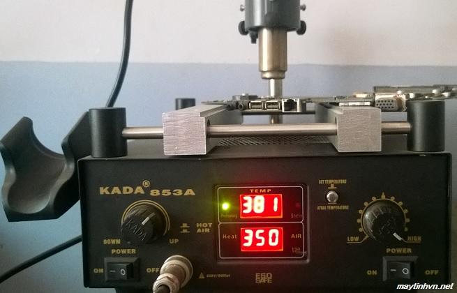 Cách thay chipset bằng máy hàn KADA 853A