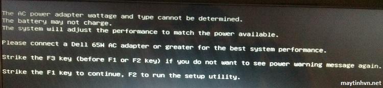 Cách xử lý Laptop Dell yêu cầu bấm phím F1