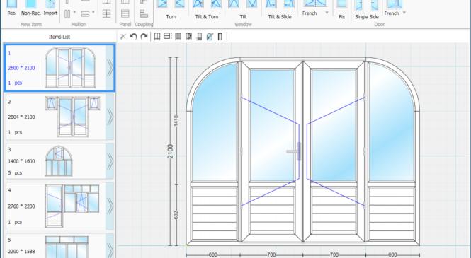 Phần mềm thiết kế cửa nhôm xingfa, cửa nhựa lõi thép