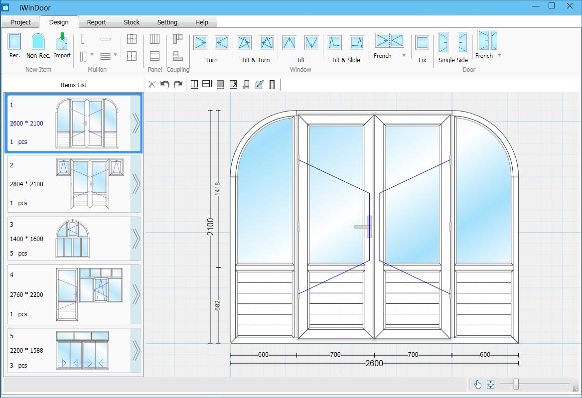 Phần mềm thiết kế cửa nhựa lõi thép, cửa nhôm xingfa